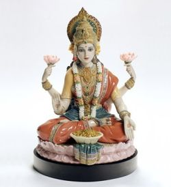 Lladró Goddess Lakshmi sculpture