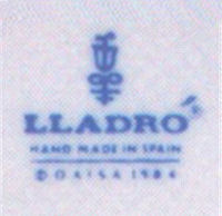 Lladro Backstamp Logo - 1984 to 1989