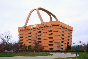 Longaberger basket shaped headquarters building